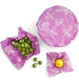 Bees Wrap 3 Pack Assorted Wraps - Clover Print