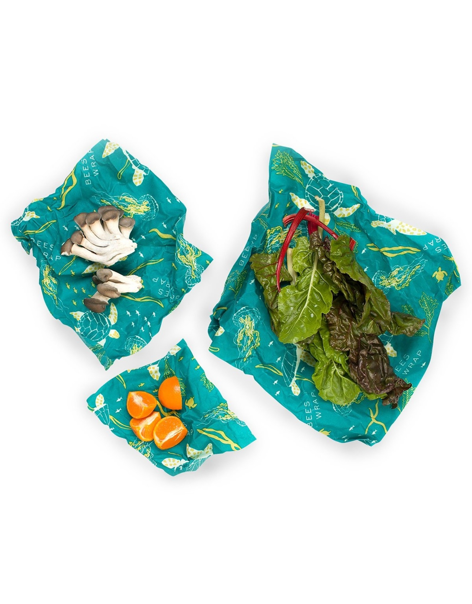 Bees Wrap 3 Pack Assorted Wraps - Oceans Print