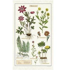 Cavallini Herbarium Tea Towel