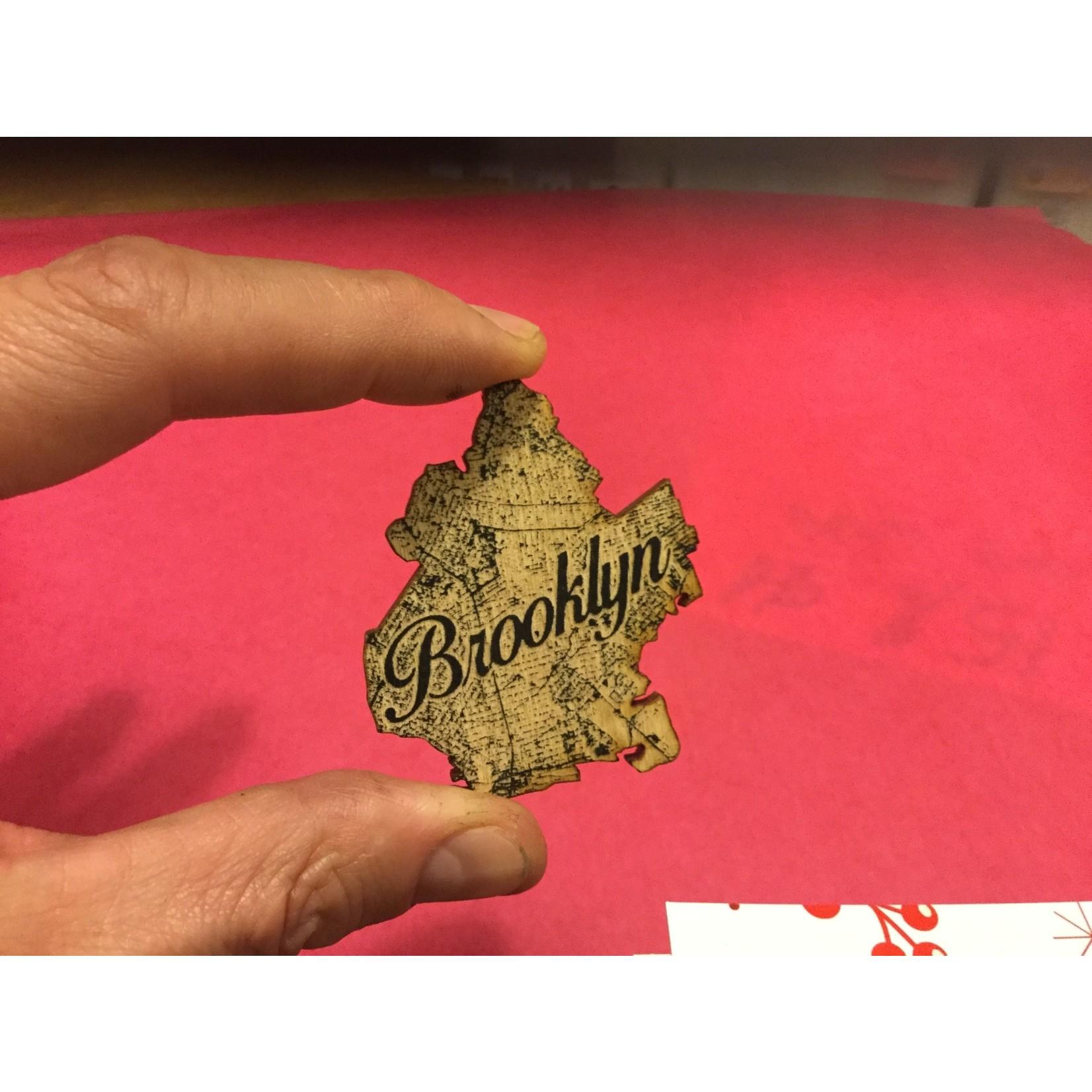 LetterCraft Brooklyn Map Wooden Magnet