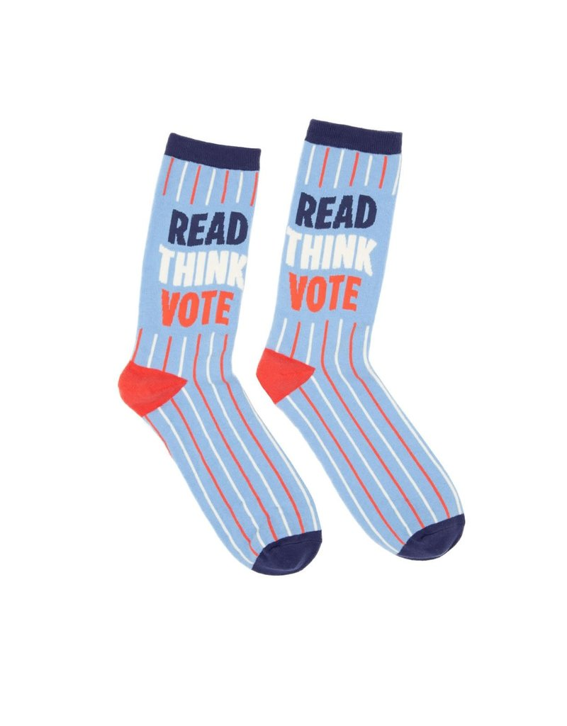 """Out Of Print """"Read Think Vote"""" Socks"""