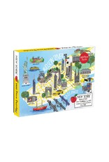Chronicle Books New York City Map Illustrated Puzzle