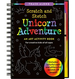 Peter Pauper Press Scratch & Sketch Unicorn Activity Book