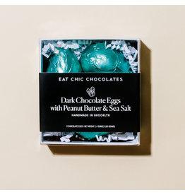 Eat Chic Chocolates Dark Chocolate Peanut Butter Eggs