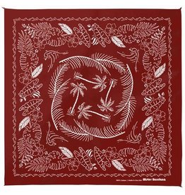 Mister Bandana Tahiti Nights Screen Printed Bandana in Wine
