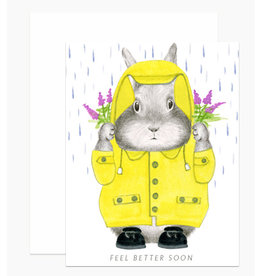 Sympathy Card: Feel Better Bunny