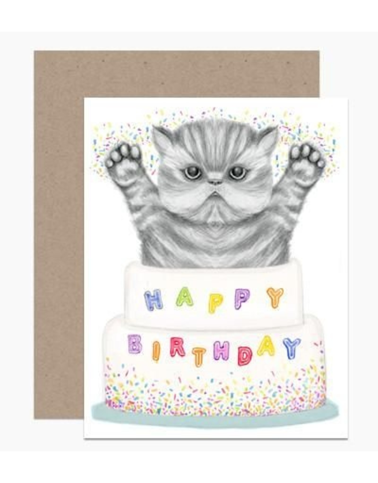Birthday Card: Kitty Cake