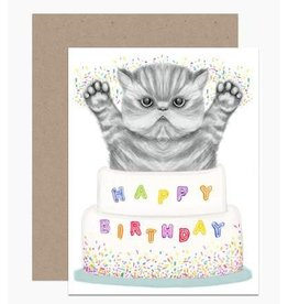 Birthday Card: Kitty Cake