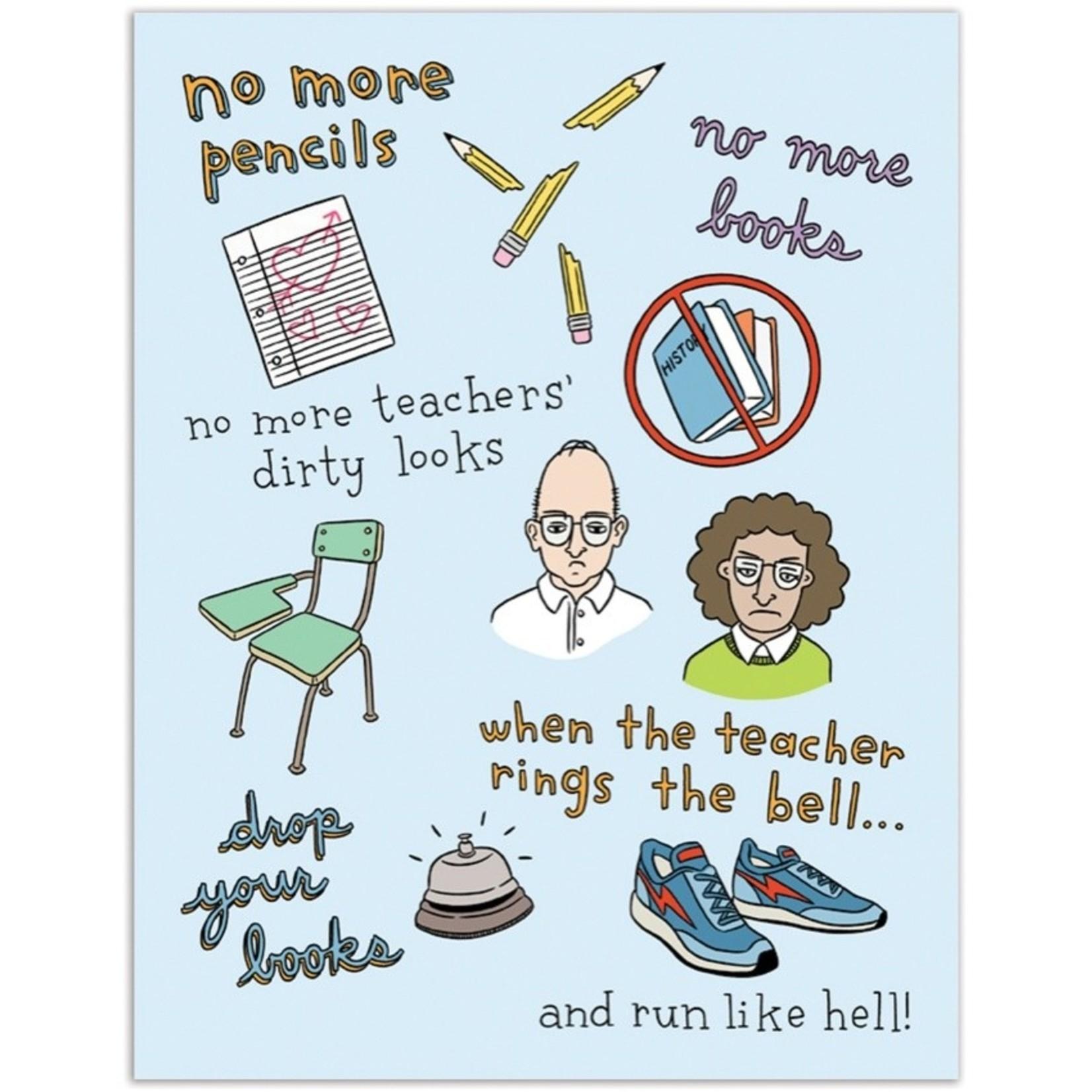 Graduation Card: Run Like Hell!