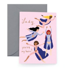 Thank You Card: Hero Lady