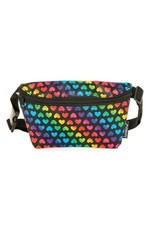 FYDELITY FYDEILTY Fanny Pack in Rainbow Hearts
