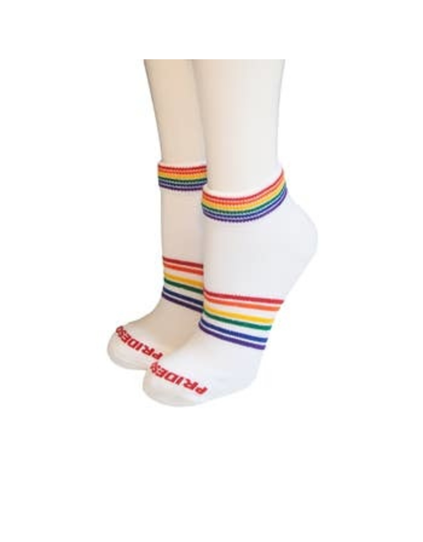 Pride White Athletic Socks