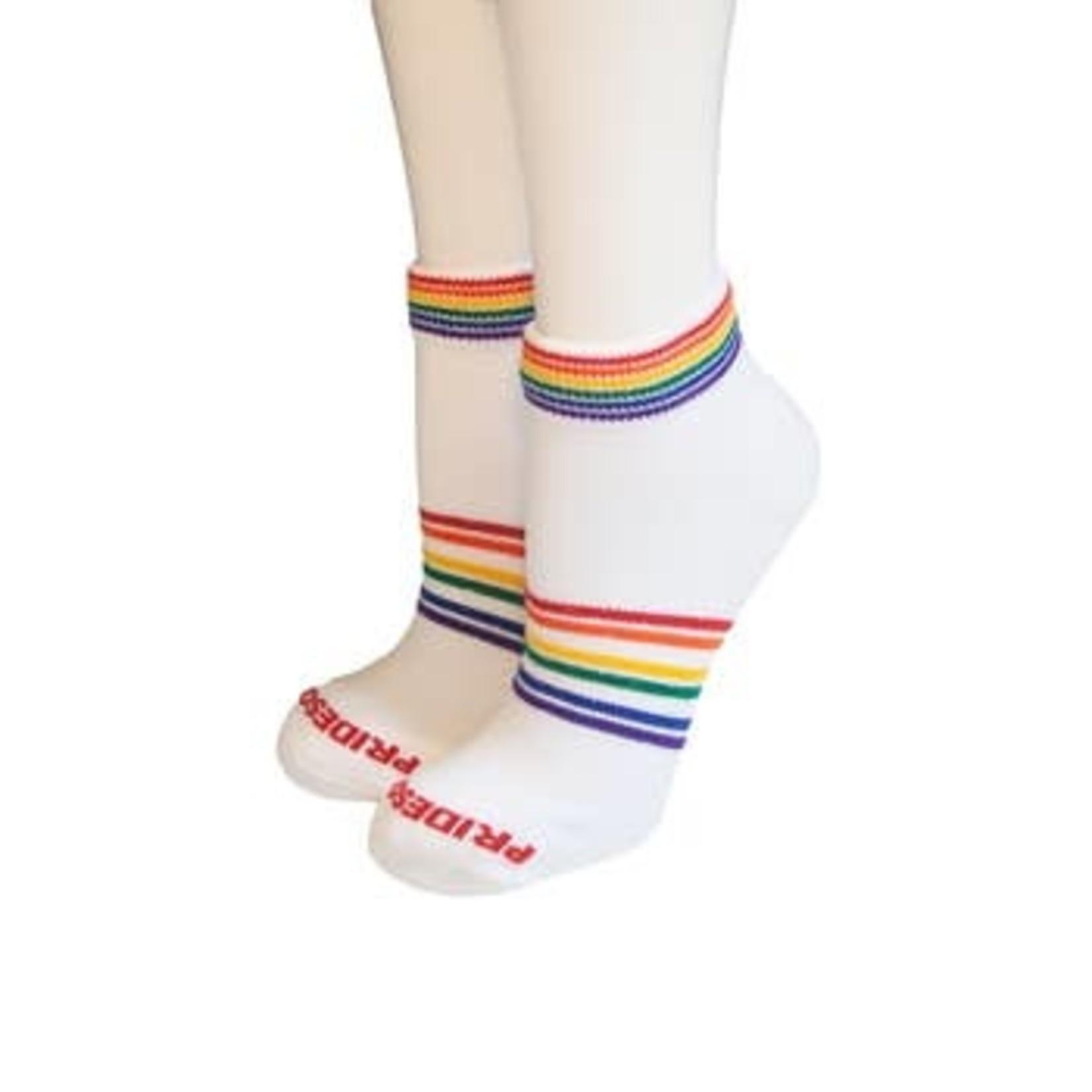 Pride White Athletic Socks