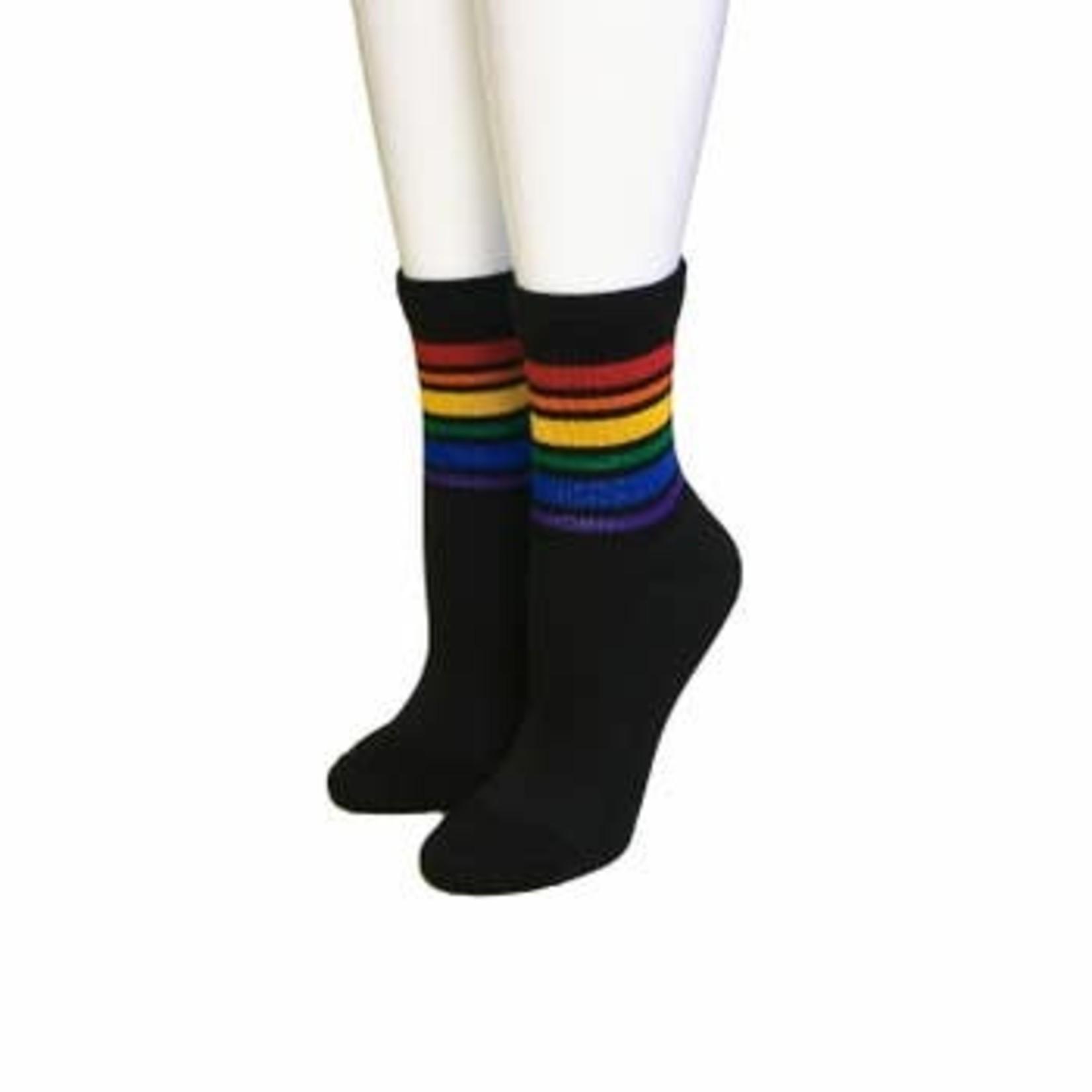Pride Socks Black Ankle Pride Socks Medium