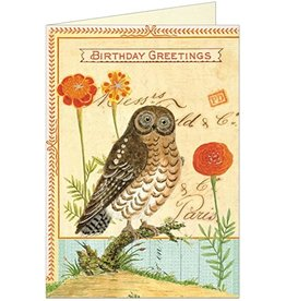 Birthday Card: Glitter Owl