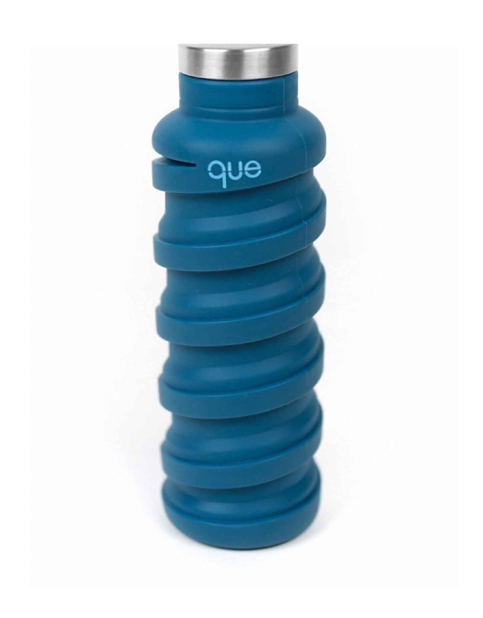 Que Que Bottle in Steel  Blue