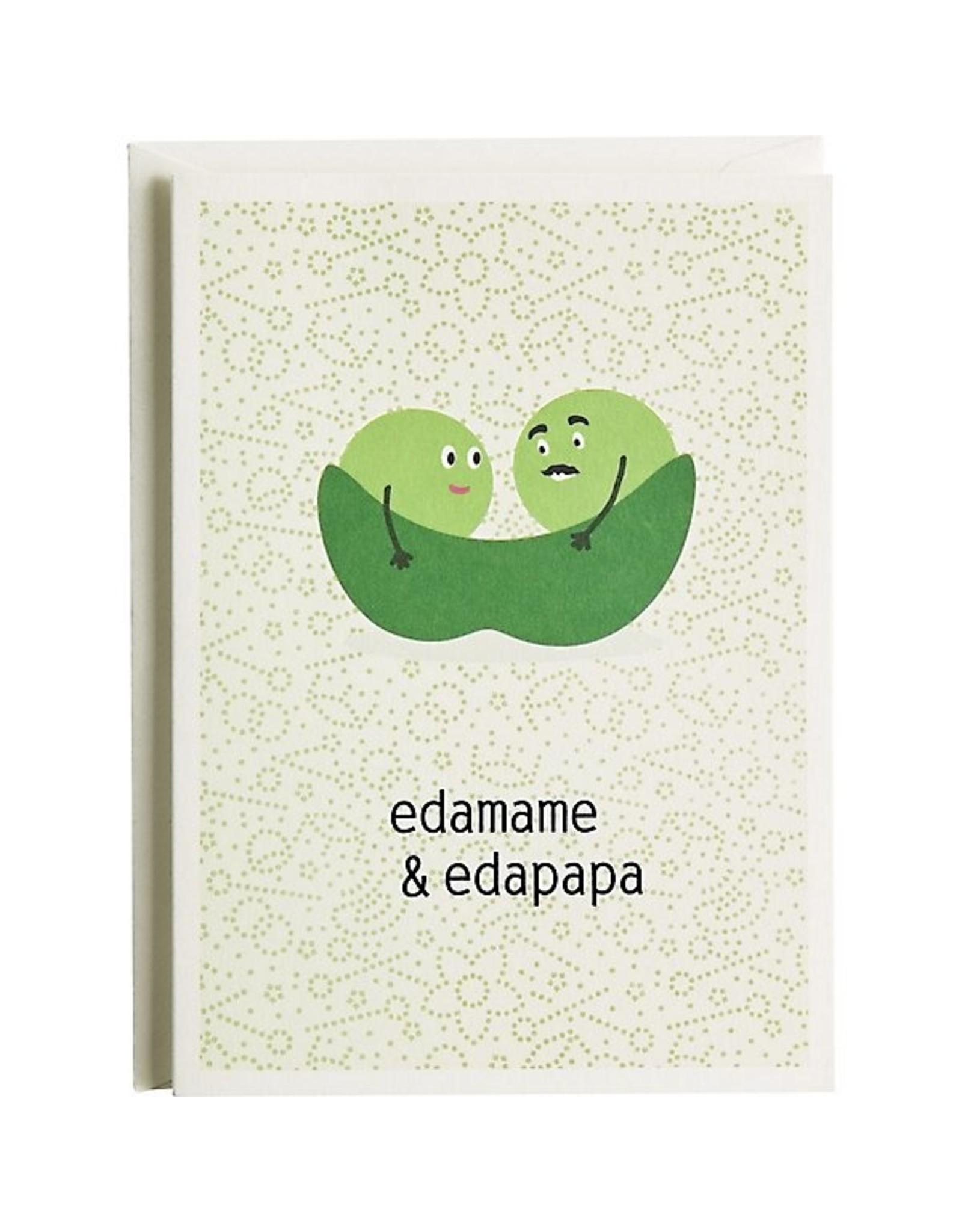 Baby Card:  Edamame & Edapapa