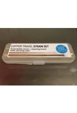 Kikkerland Copper Travel Straw Set