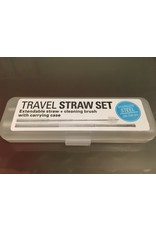 Kikkerland Travel Straw Set