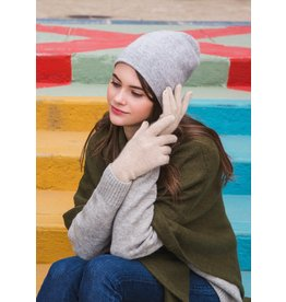 Look By M Cashmere Blended Beanie Lt Grey