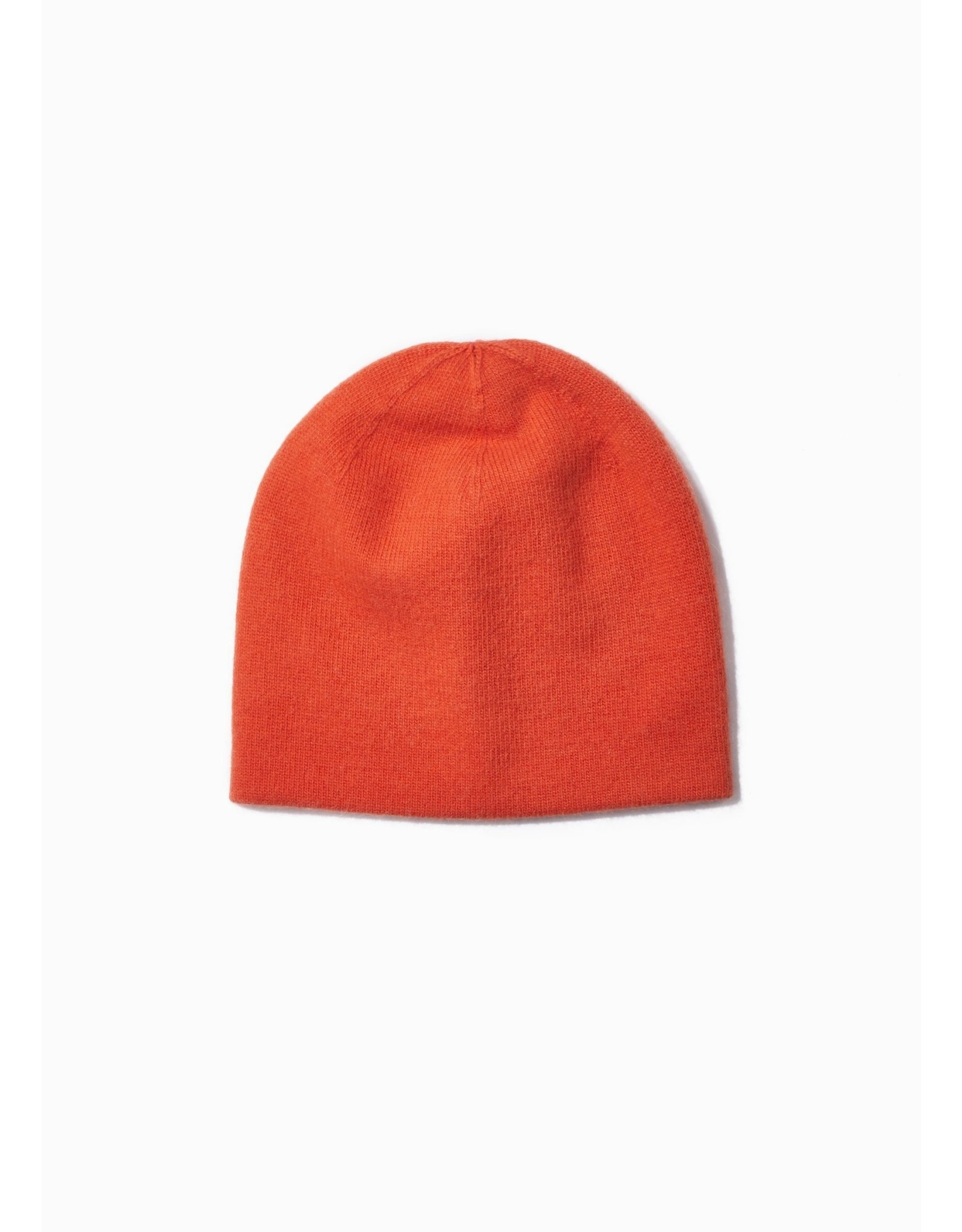 Look By M Cashmere Blended Basic Beanie - Orange