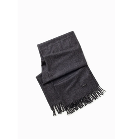 Look By M Soft Noise Grain Charcoal Scarf