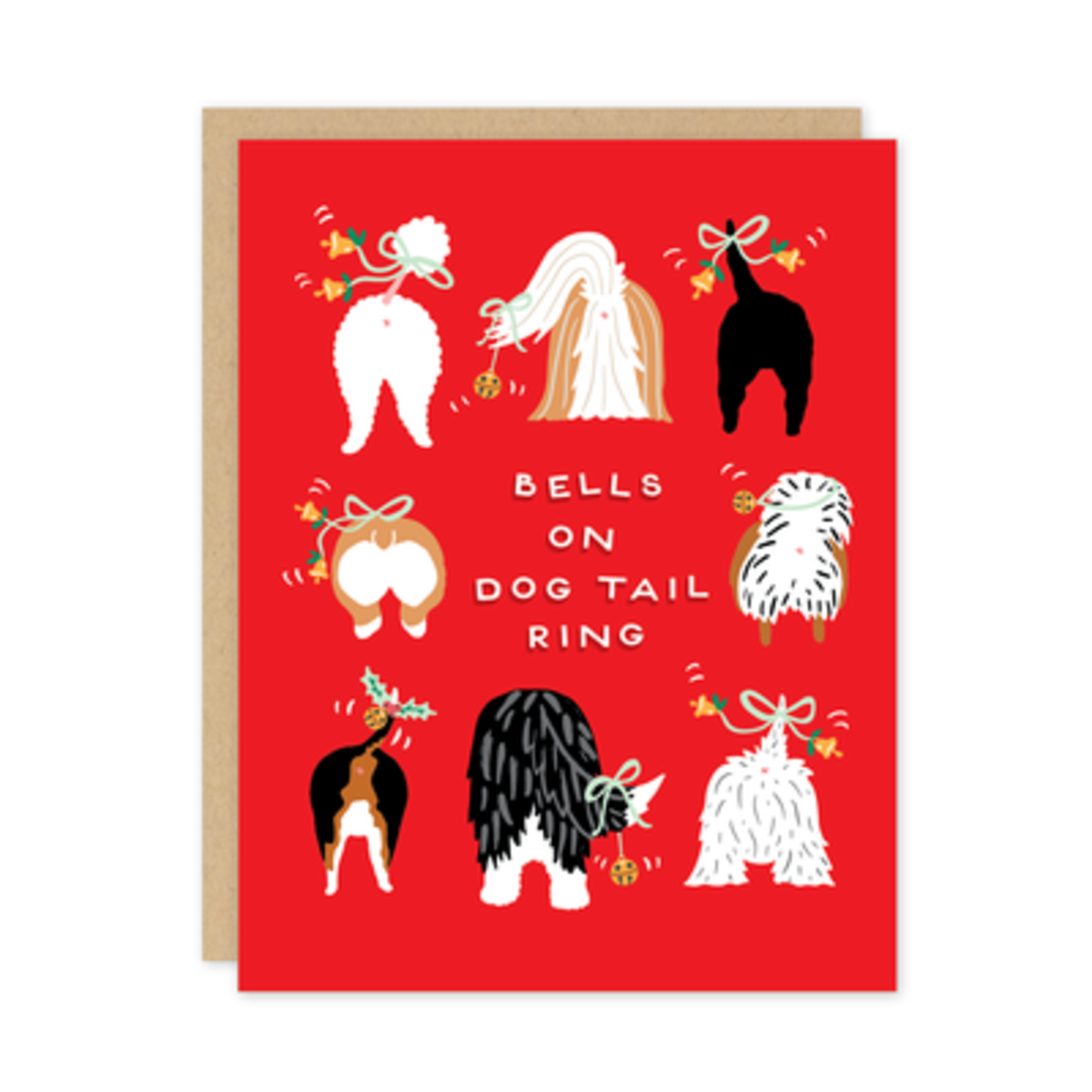 Holiday Card: Bells on Dogtail Ring