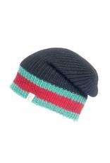 St Marks Stripe Hat in Black