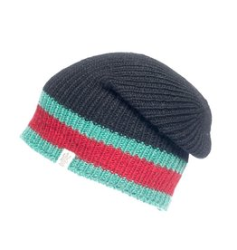 St Marks Stripe Hat in Black