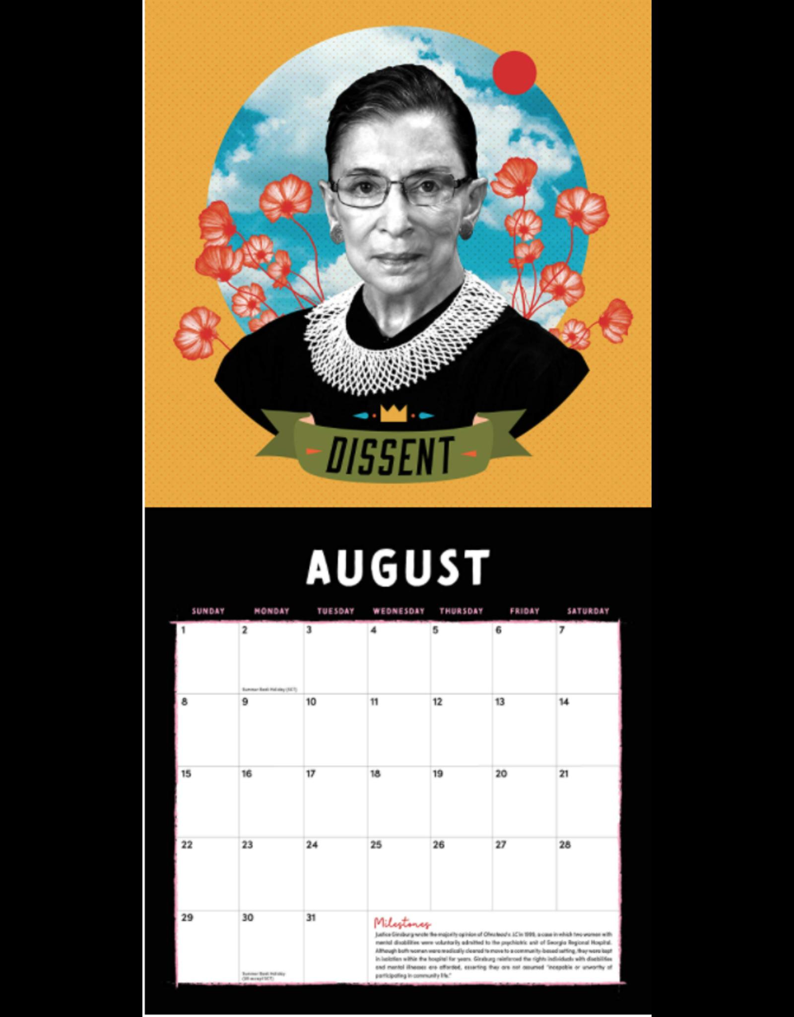Legacy of RBG Wall Calendar 2021