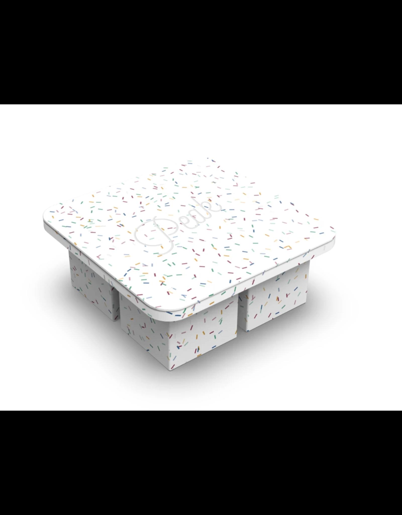 W & P Designs Peak XL Ice Cube Tray - Speckled White