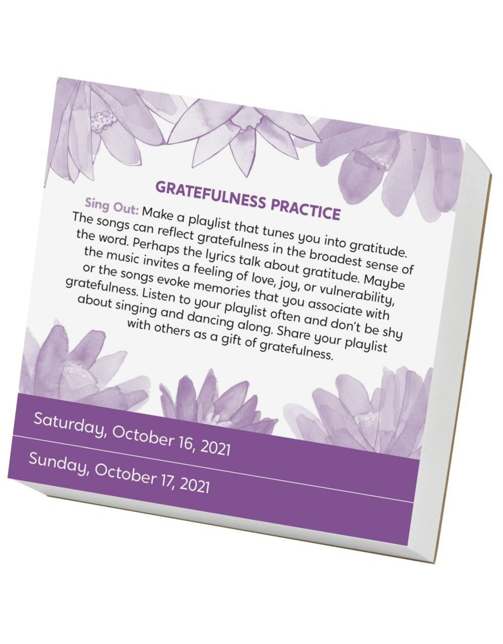 Workman Publishing Year of Gratitude Boxed Calendar 2021