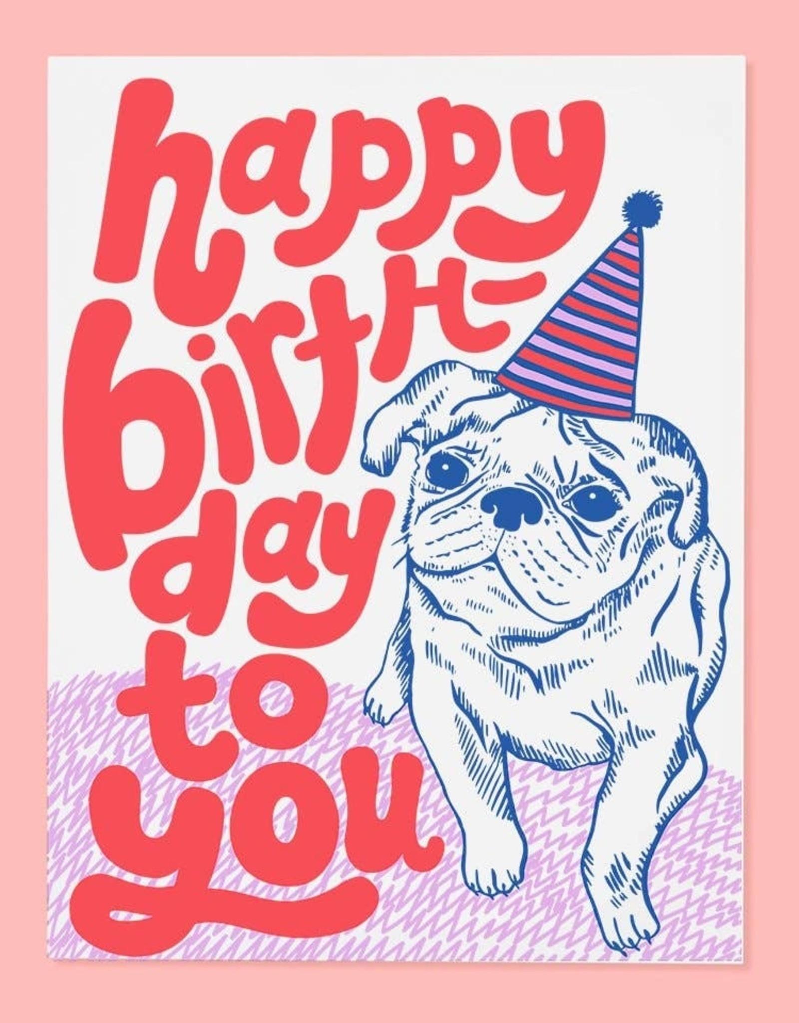 Birthday Card: Pug