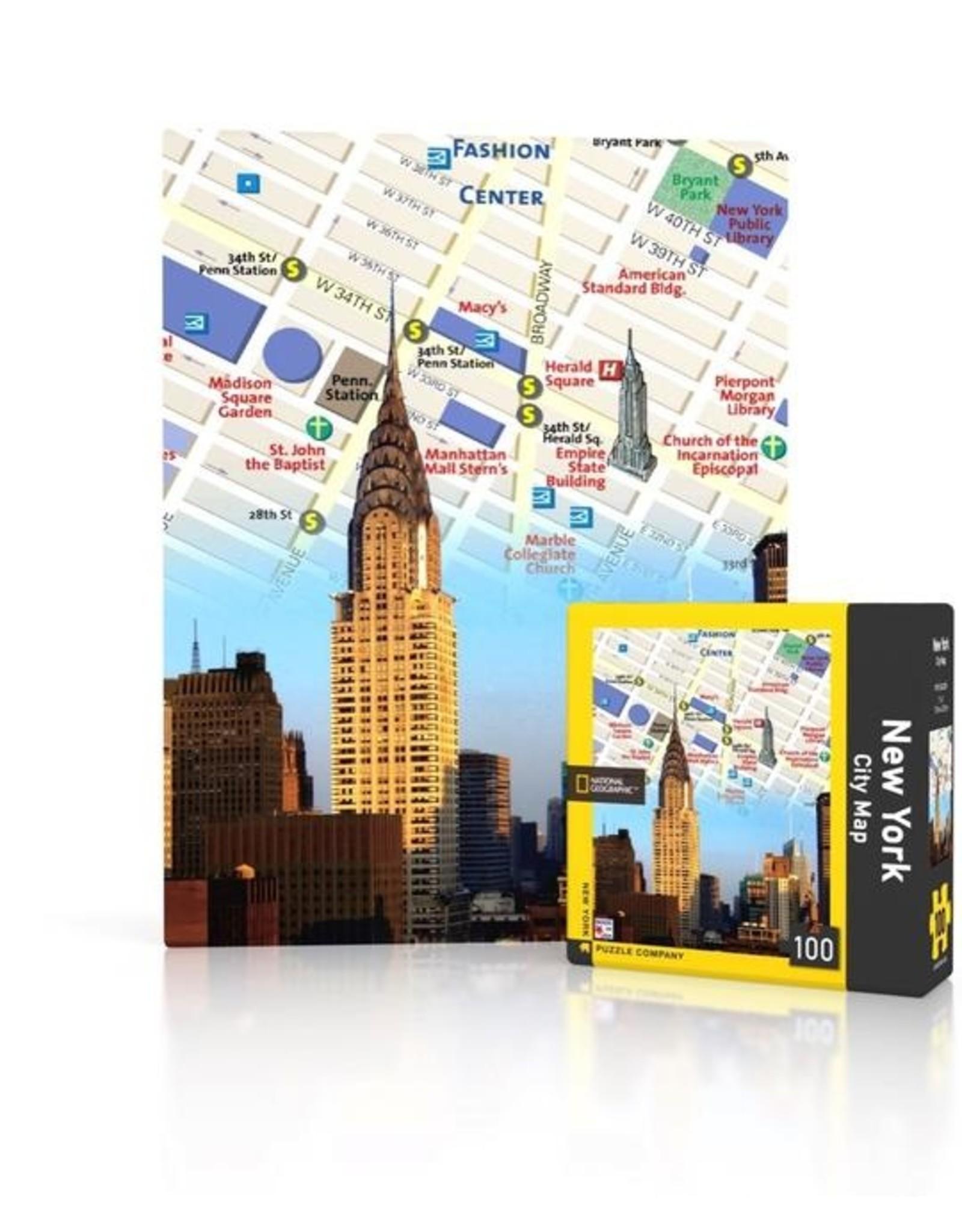 New York Puzzle Company NYC Map Mini Puzzle