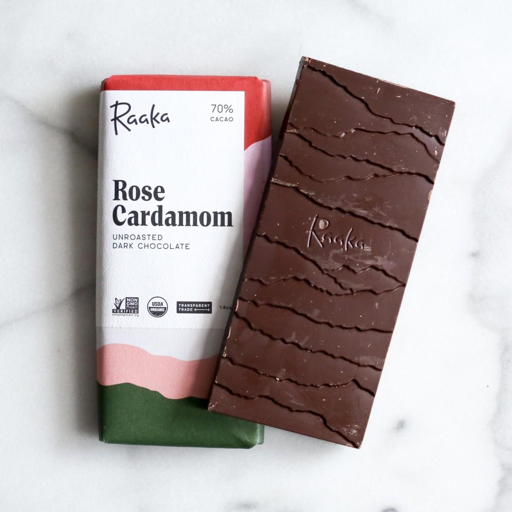 Raaka Rose Cardamom Chocolate Bar