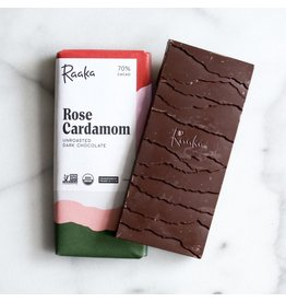 Raaka Rose Cardamom Chocolate Bar