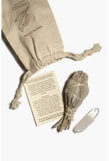 Cast Of Stones White Sage and Crystal Pouch
