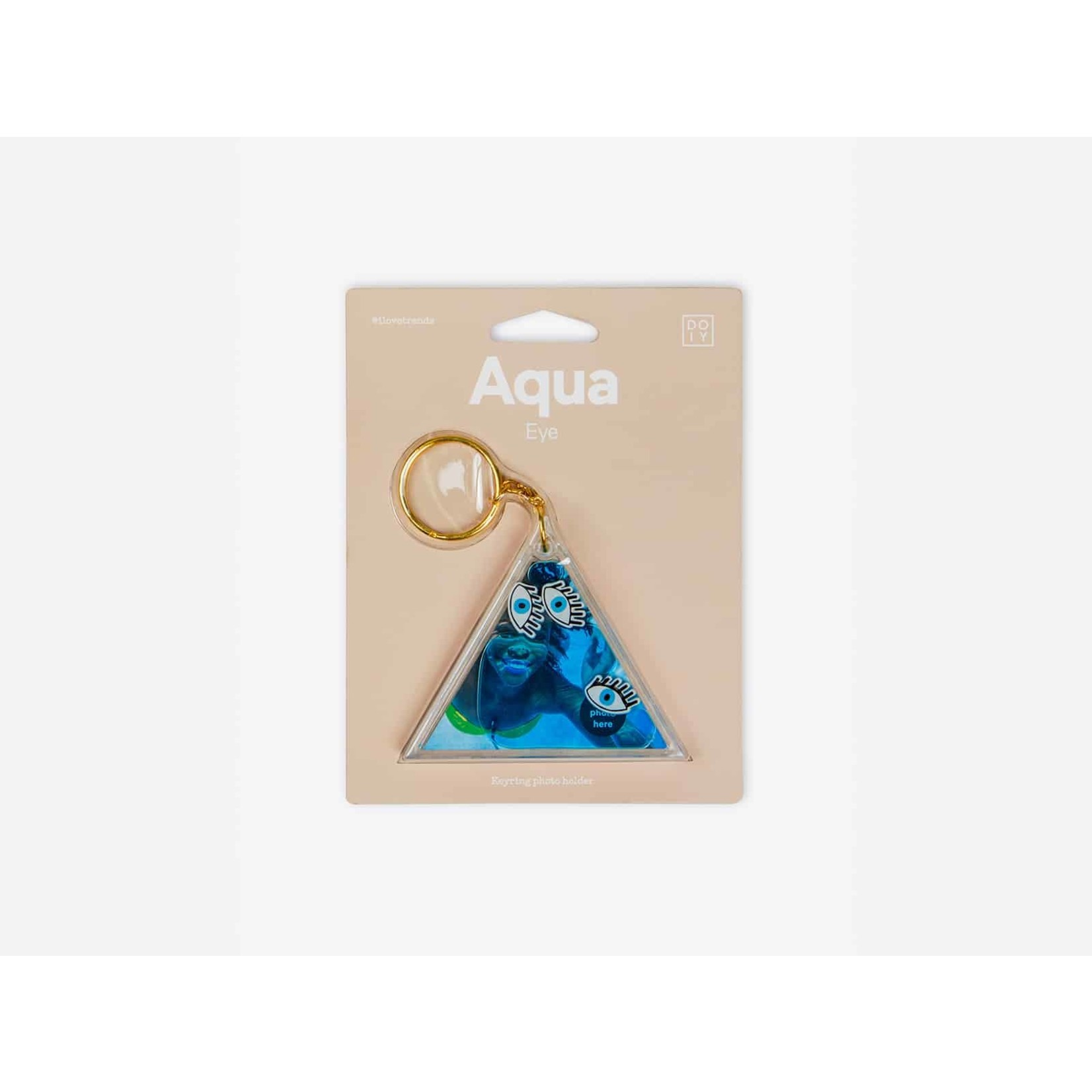 Aqua Photo Holding Keychains