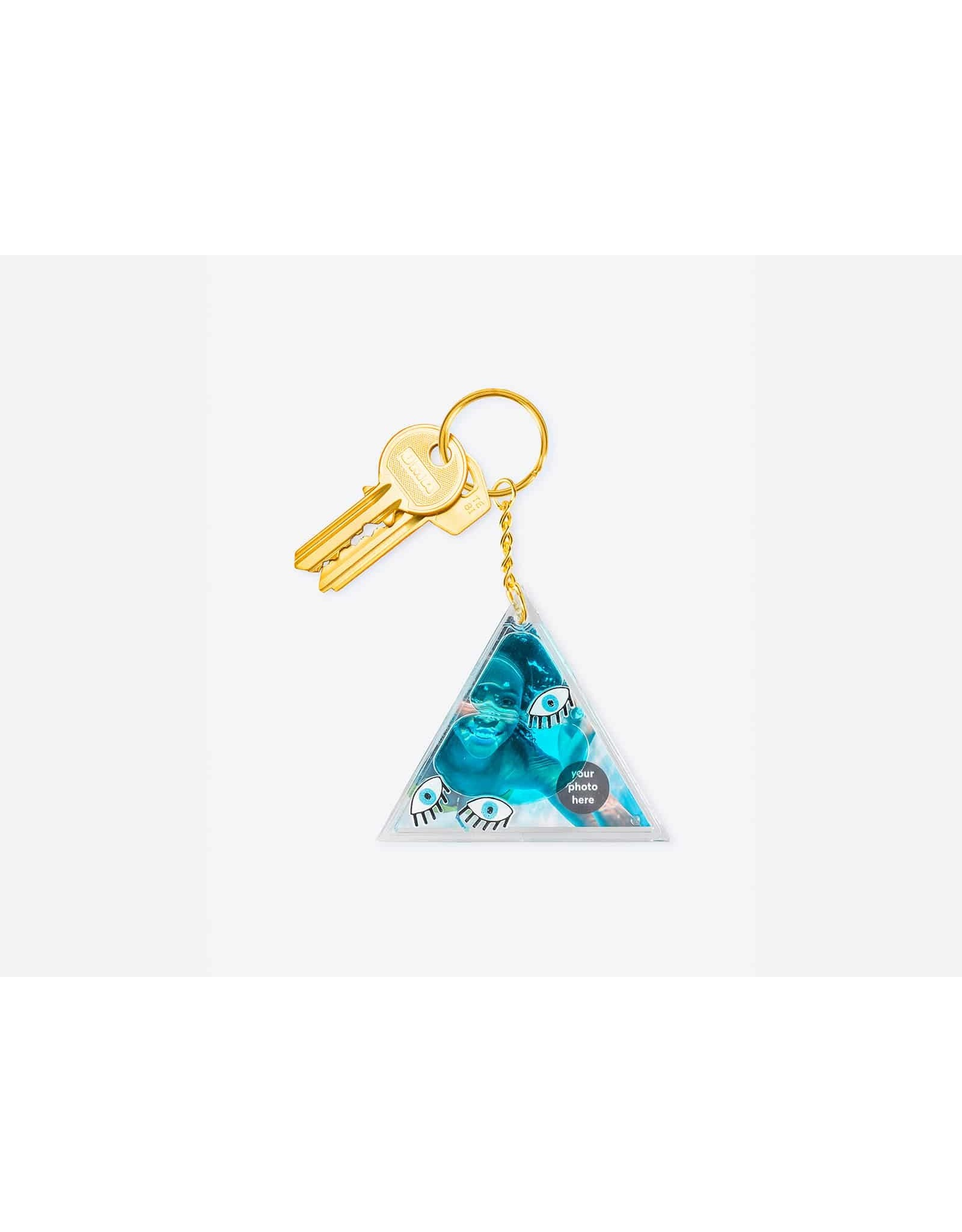 Aqua Photo Holding Keychains
