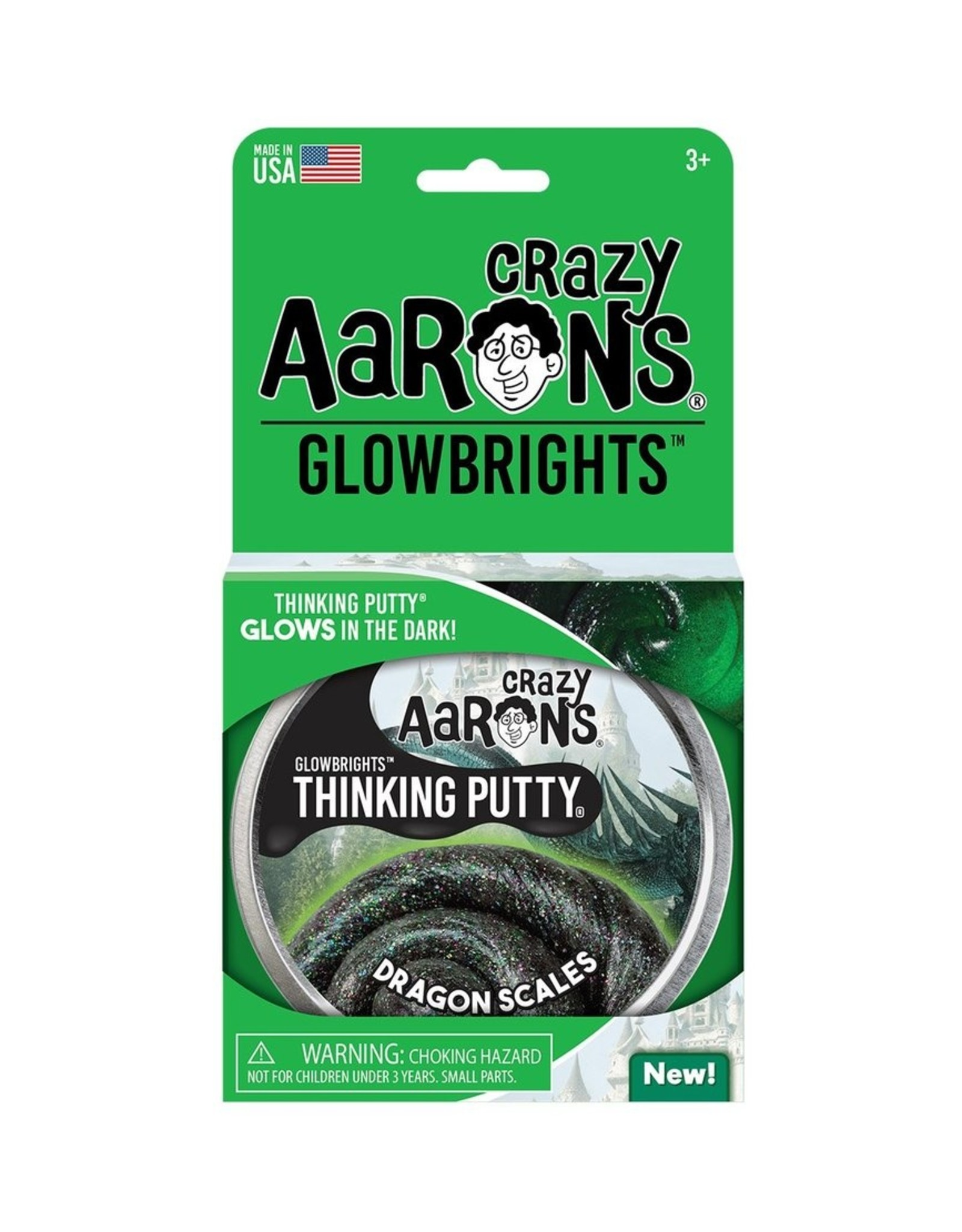 Crazy Aaron's Glowbrights Dragon Scales Thinking Putty
