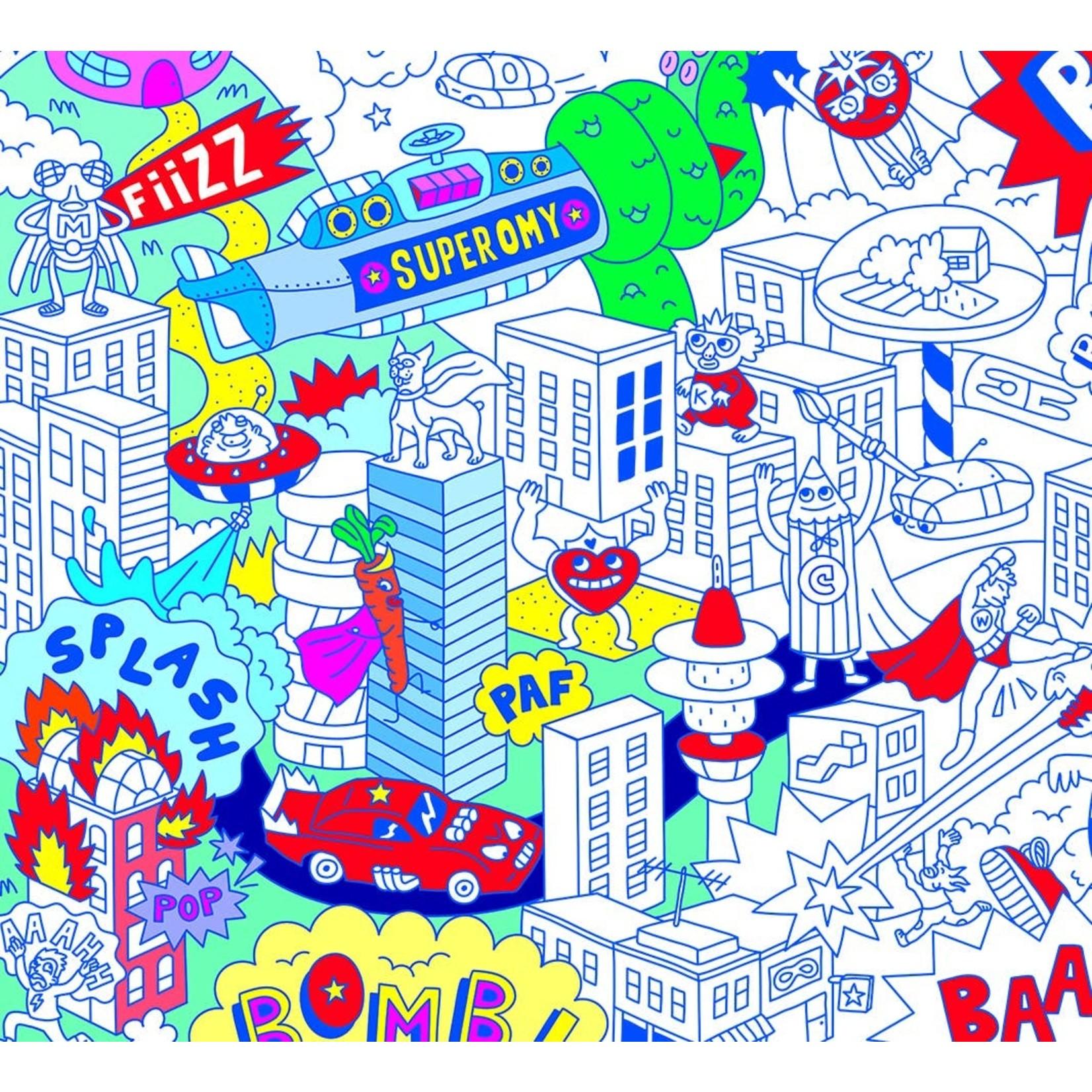 Super Hero Coloring Poster