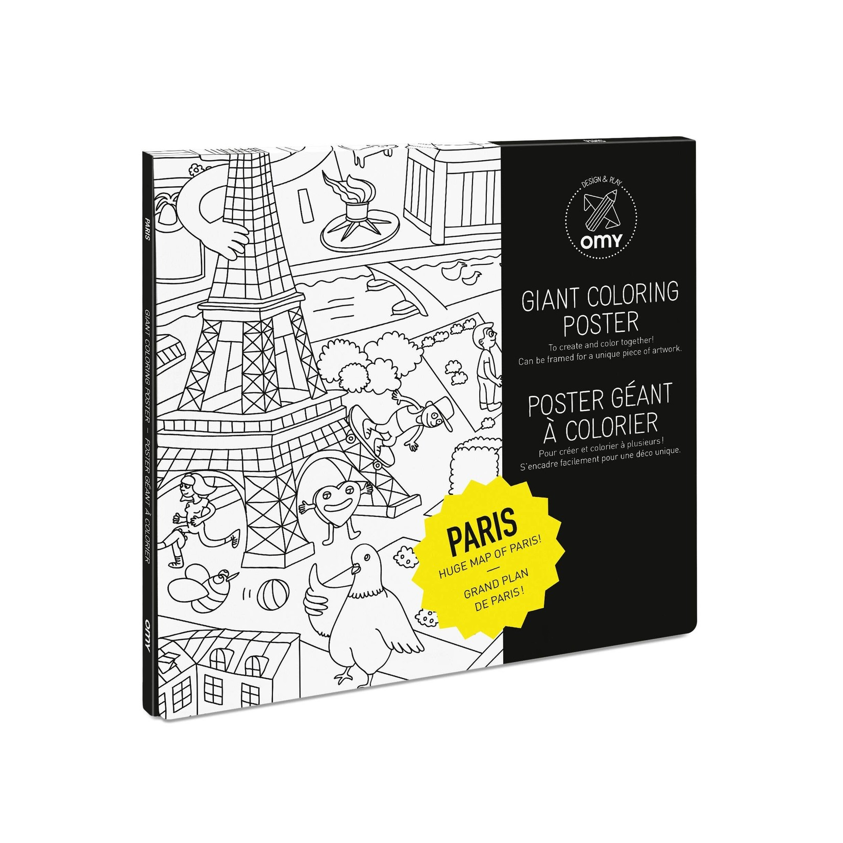 Paris Giant Coloring Poster