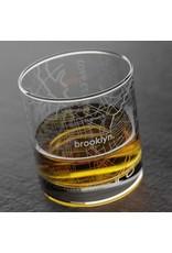 Brooklyn Map Rocks Glass