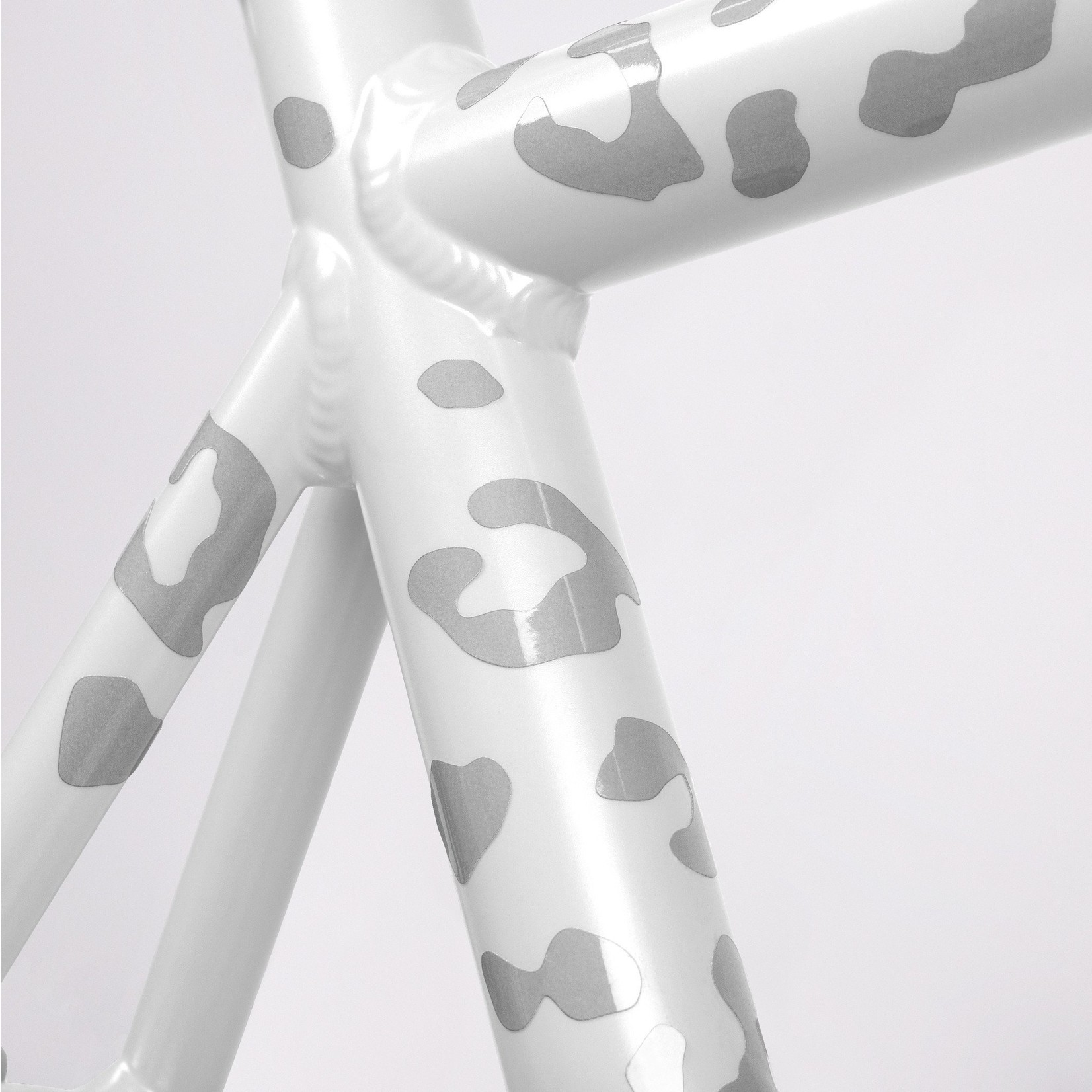 Bookman Gear Collective White Leopard Reflective Bike Stickers