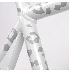 Bookman Gear Collective White Leopard Bike Stickers