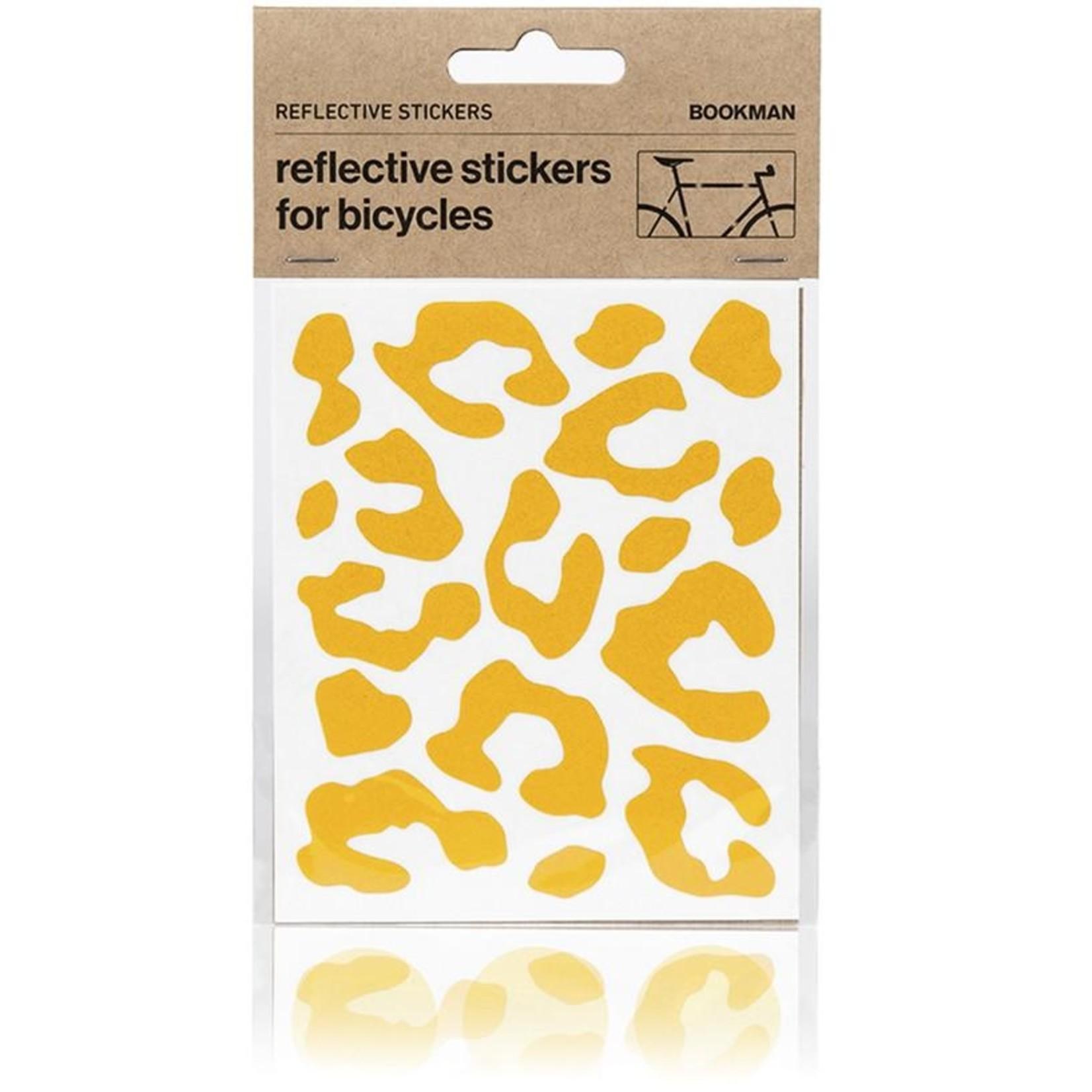 Bookman Gear Collective Yellow Leopard Reflective Bike Stickers