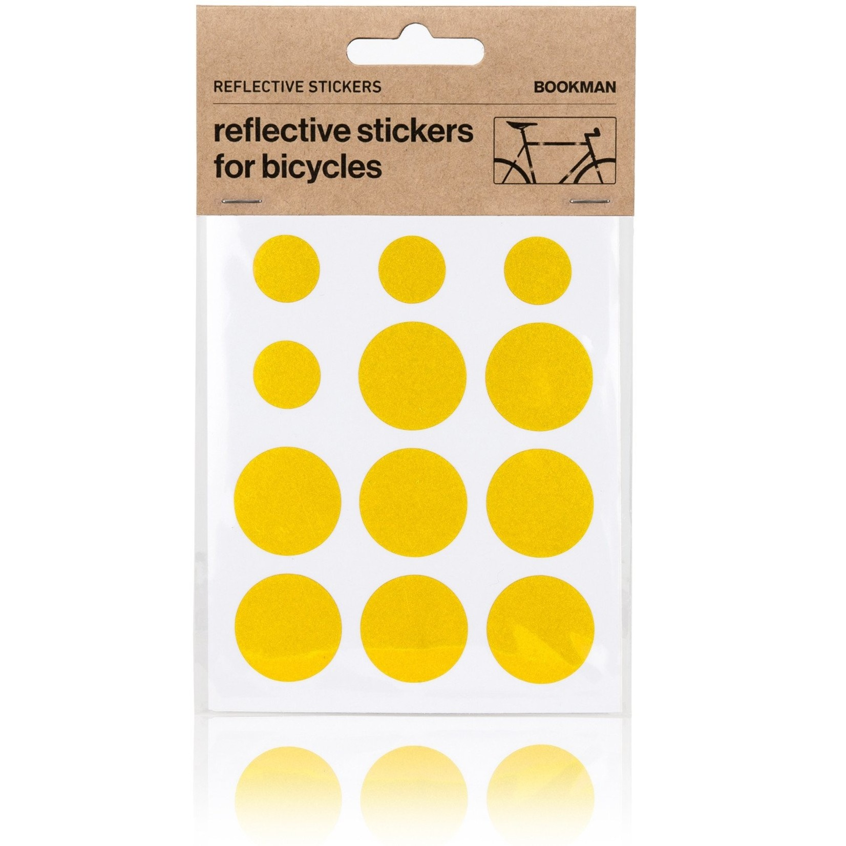 Bookman Gear Collective Yellow Dot Reflective Bike Stickers