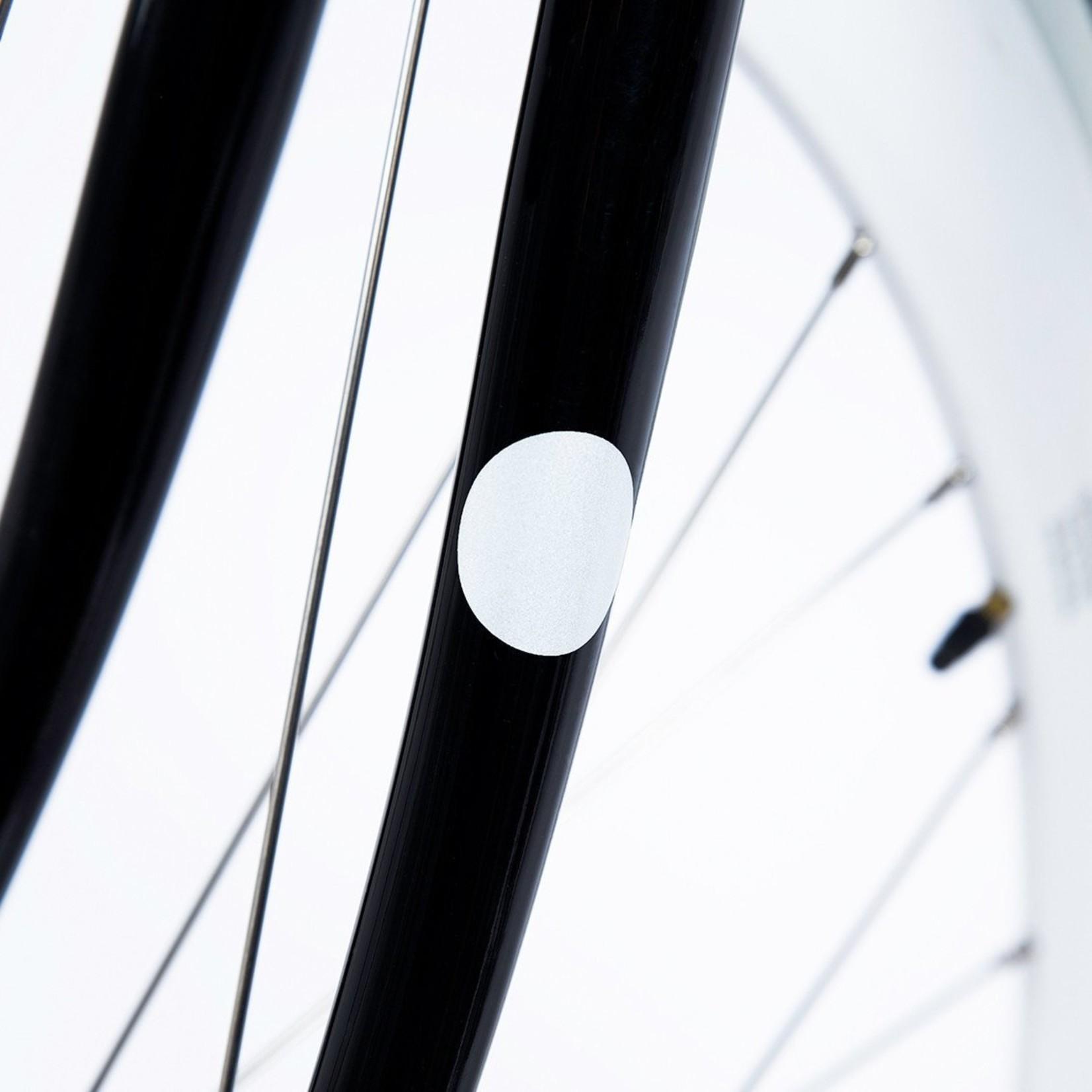 Bookman Gear Collective White Dot Reflective Bike Stickers