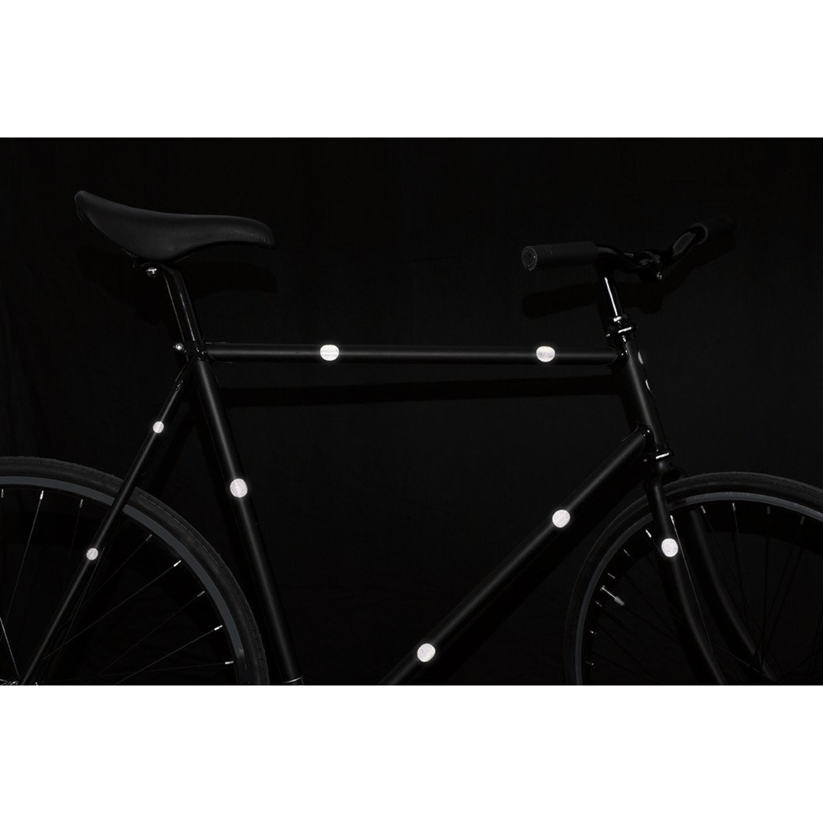 Bookman Gear Collective Red Dot Reflective Bike Stickers