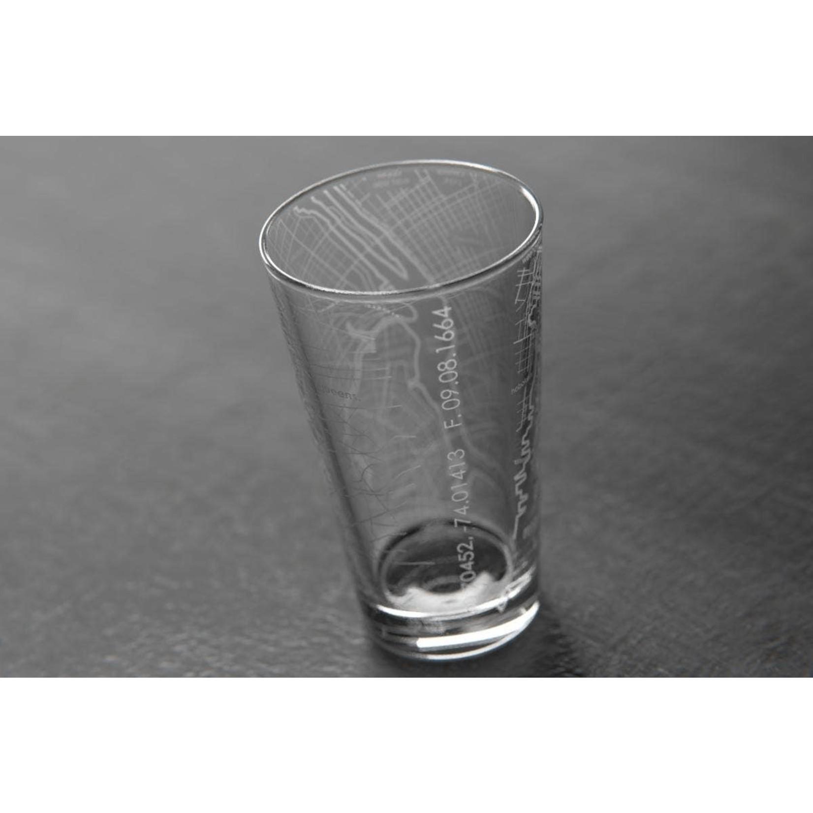 NYC Map Pint Glass